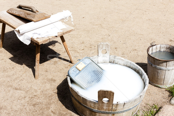 washing, Kaszubski ethnographic park in Wdzydzki Park Krajobrazo Stock photo © phbcz