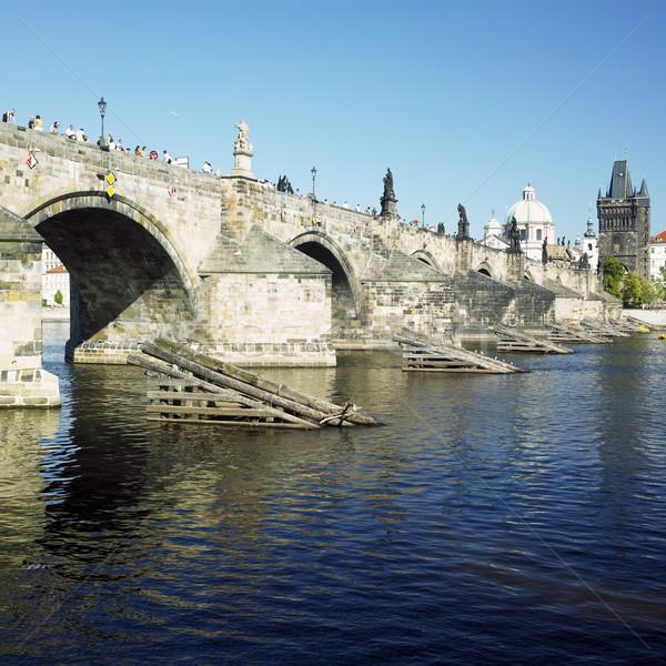 Charles bridge, Prague, Czech Republic Stock photo © phbcz