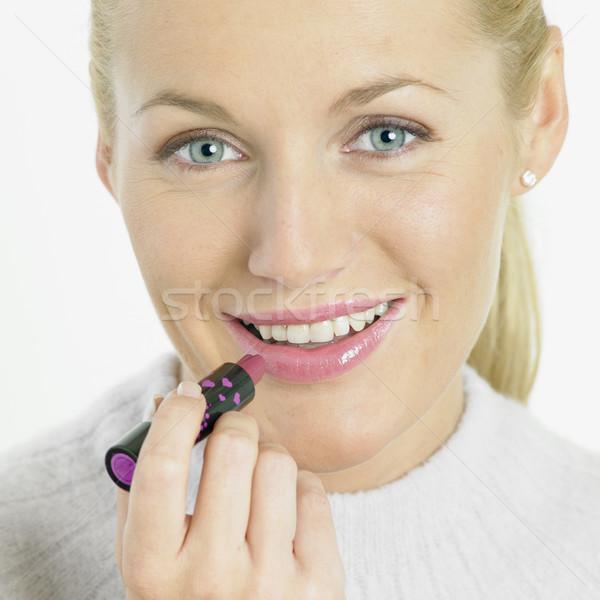 Stockfoto: Make-up · vrouw · gezicht · schoonheid · mond · gezichten