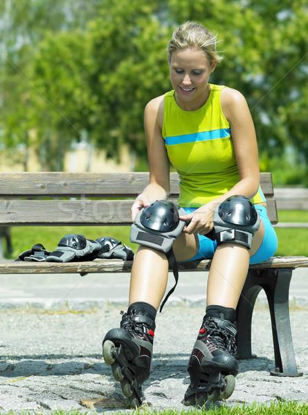 inline skater Stock photo © phbcz