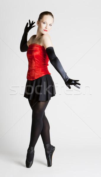 Balletdanser vrouwen dans ballet zwarte jonge Stockfoto © phbcz