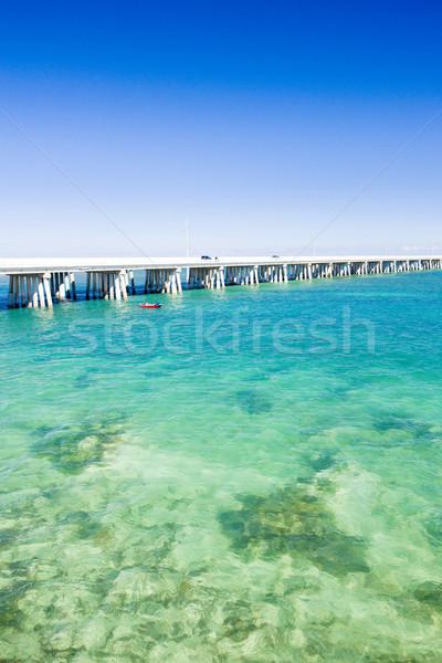 Stock fotó: út · híd · kapcsolódik · Florida · kulcsok · USA