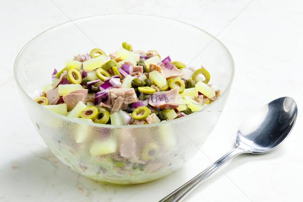 Mediterranean potato salad with tuna fish Stock photo © phbcz