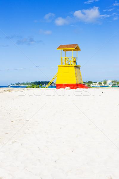 cabin on the beach, Enterprise Beach, Barbados, Caribbean Stock photo © phbcz