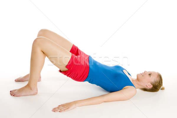 Mulher fitness saúde esportes jovem Foto stock © phbcz