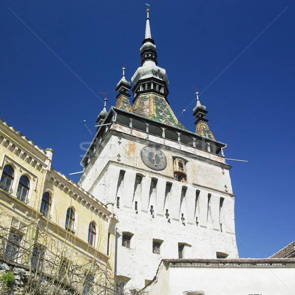 Wieża zegar Rumunia budynku miasta podróży Zdjęcia stock © phbcz