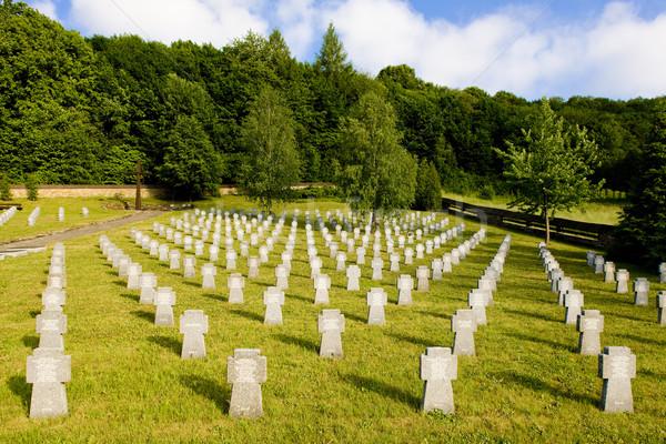 Militaire cimetière Slovaquie croix guerre mort Photo stock © phbcz