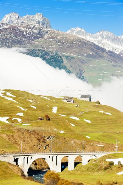 Alpes paisagem Suíça viajar montanhas nuvem Foto stock © phbcz