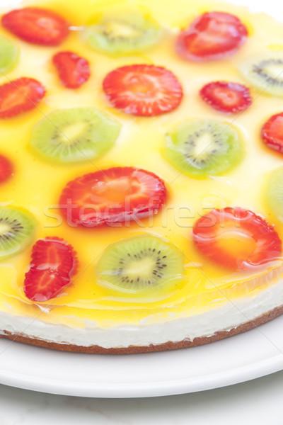 Pastel de frutas frutas frutas fresa postre tortas Foto stock © phbcz