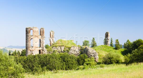 Romok kastély Szlovákia épület építészet Európa Stock fotó © phbcz