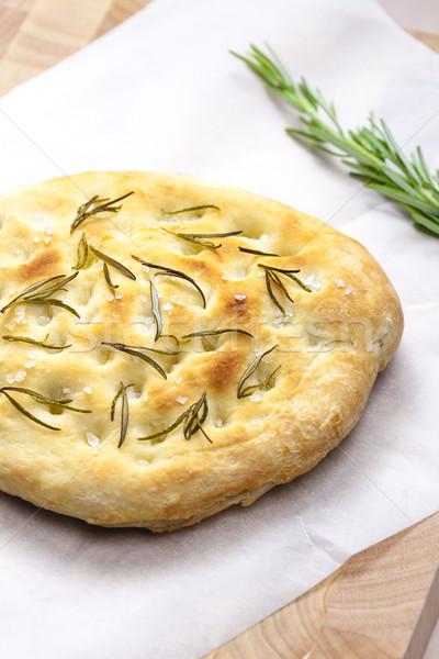 Italiano pan romero placa hierbas comida Foto stock © phbcz