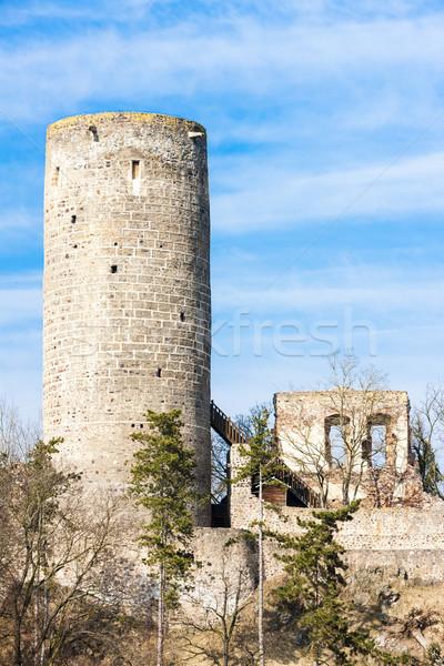 Ruinas castillo República Checa viaje arquitectura historia Foto stock © phbcz