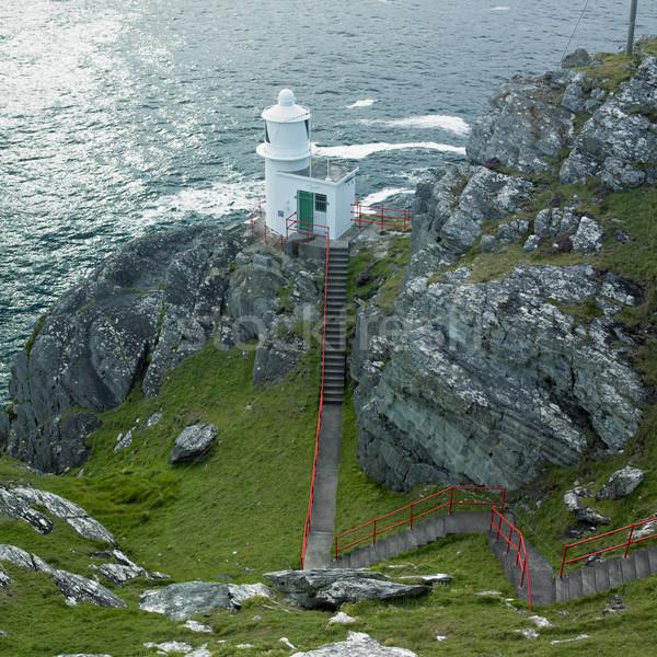 ストックフォト: 灯台 · 頭 · 半島 · コルク · アイルランド · 建物