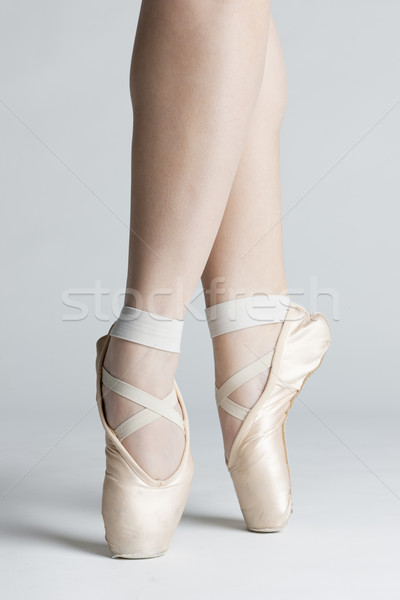 Stock photo: detail of ballet dancer''s feet