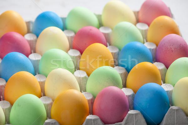 натюрморт пасхальных яиц Пасху яйцо пасхальное яйцо цветами Сток-фото © phbcz