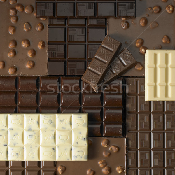 Chocolate barras fundos comer doces insalubre Foto stock © phbcz