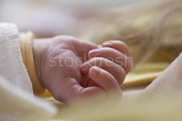 Kéz gyerekek gyermek gyerek fiatalság ököl Stock fotó © phbcz