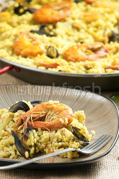 Frutti di mare piatto shell pasto piatto conchiglie Foto d'archivio © phbcz