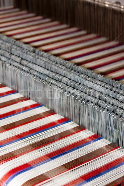 Textiel machine technologie industrie fabriek weefsel Stockfoto © phbcz