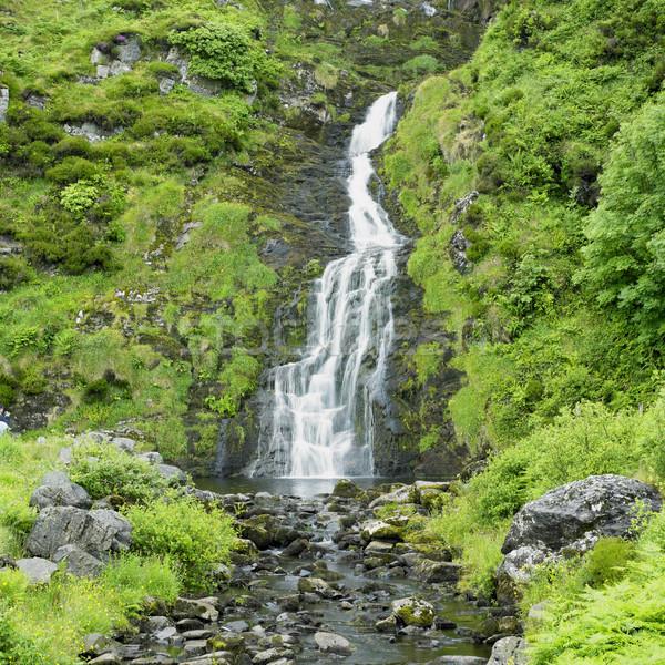 ストックフォト: 滝 · アイルランド · 水 · 旅行 · 秋 · ストリーム
