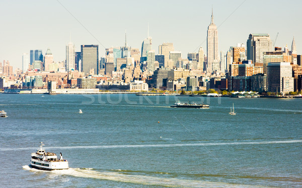 Photo stock: Manhattan · New · York · City · USA · eau · bâtiments · bateau