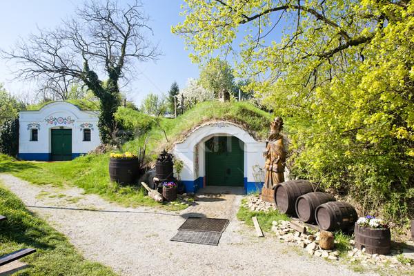 Bor Csehország építészet Európa hordó kint Stock fotó © phbcz