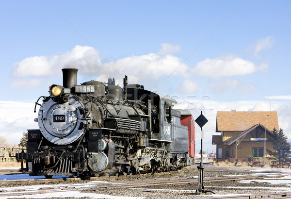 Cumbres and Toltec Narrow Gauge Railroad, Antonito, Colorado, US Stock photo © phbcz