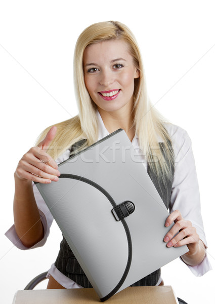 portrait of businesswoman with briefcase Stock photo © phbcz