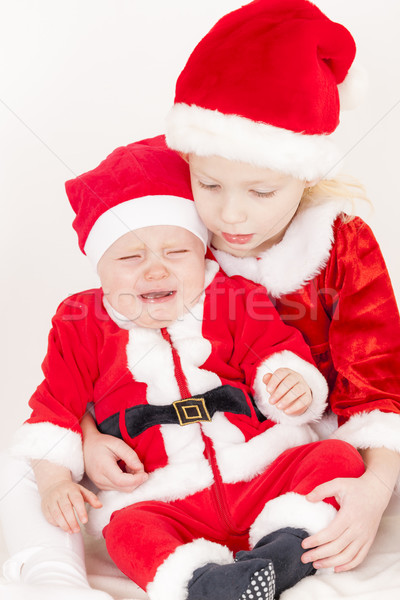 Stockfoto: Twee · kind · Rood · kid