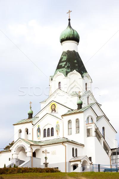 newly built Orthodox church, Medzilaborce, Slovakia Stock photo © phbcz