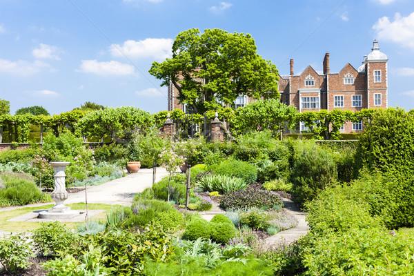 Hatfield House with garden, Hertfordshire, England Stock photo © phbcz