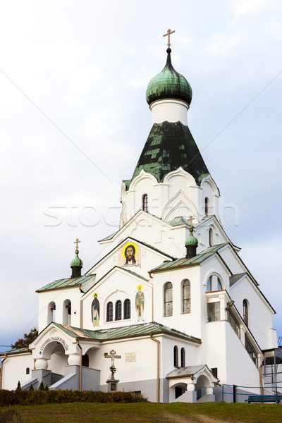 newly built Orthodox church, Medzilaborce, Slovakia Stock photo © phbcz
