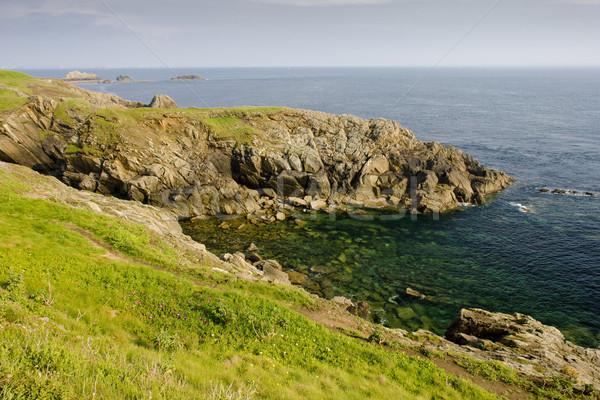 coast, Pointe de Saint Mathieu, Brittany, France Stock photo © phbcz