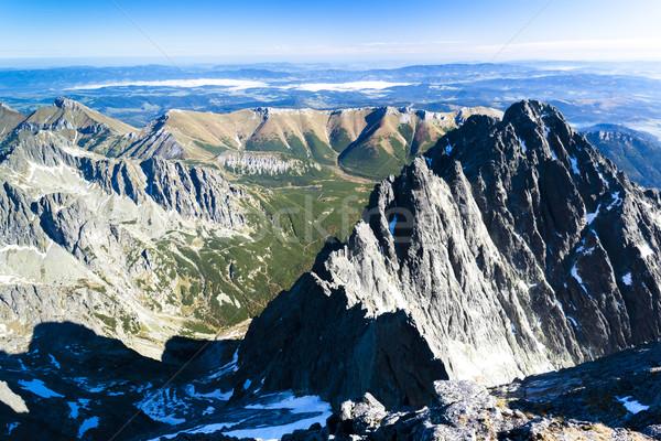 view from Lomnicky Peak, Vysoke Tatry (High Tatras), Slovakia Stock photo © phbcz