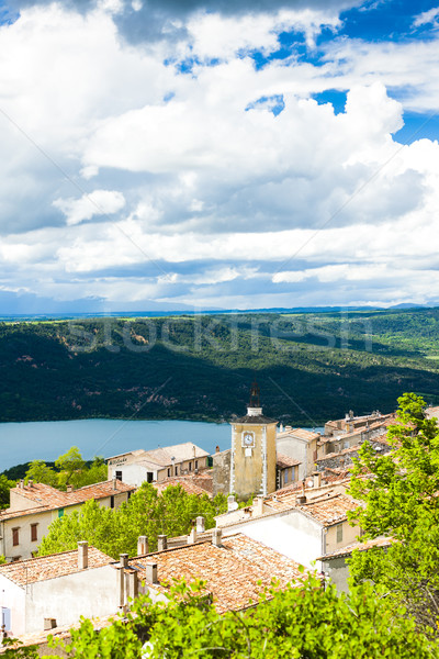 Aiguines and St Croix Lake at background, Var Department, Proven Stock photo © phbcz
