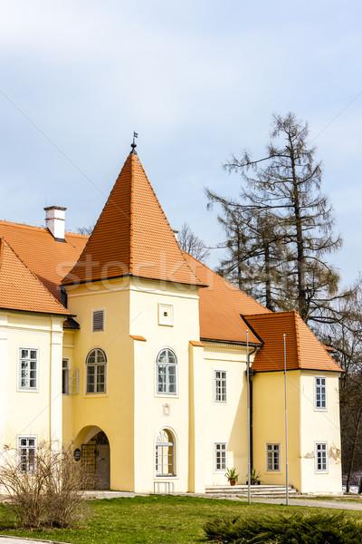 Foto stock: Palacio · República · Checa · edificio · castillo · arquitectura · aire · libre
