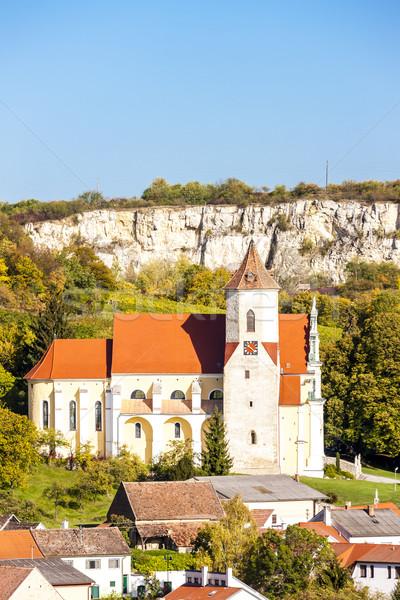 Kastély alsó Ausztria épület templom történelem Stock fotó © phbcz