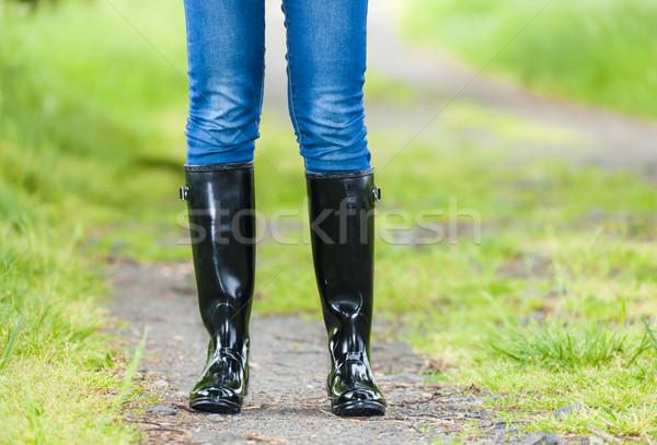 詳細 立って 女性 着用 黒 ストックフォト © phbcz