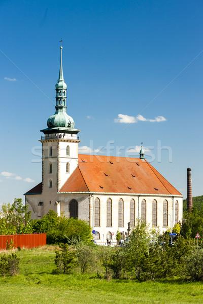 Kerk onderstelling Tsjechische Republiek architectuur Europa geschiedenis Stockfoto © phbcz
