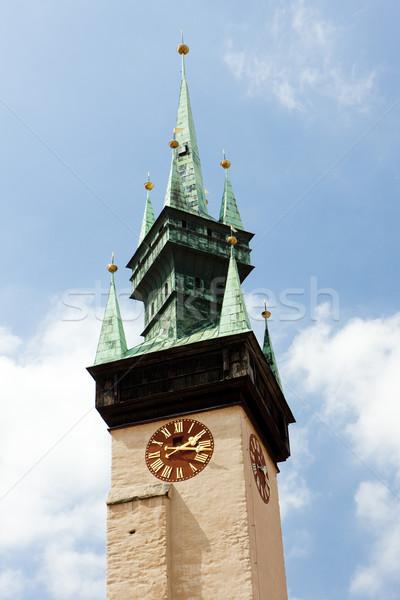 detail of town hall, Znojmo, Czech Republic Stock photo © phbcz