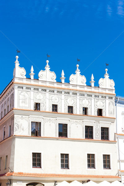 house at Rynek of Old Town, Lublin, Lublin Voivodeship, Poland Stock photo © phbcz