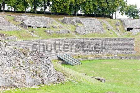Roman Theatre, Autun, Burgundy, France Stock photo © phbcz