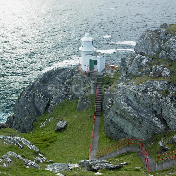 Farol cabeça península cortiça Irlanda edifício Foto stock © phbcz