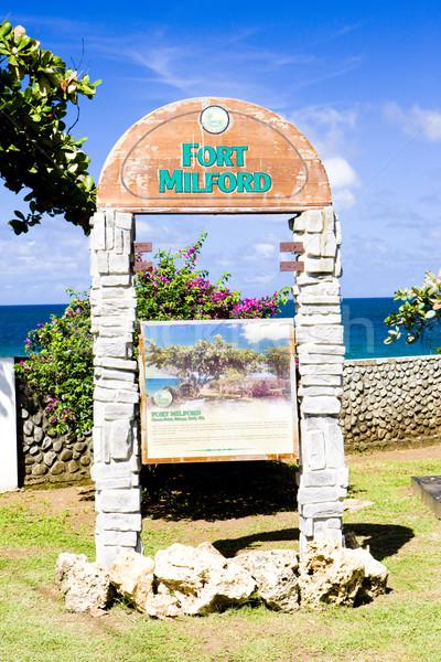砦 標識 島 屋外 外 と ストックフォト © phbcz