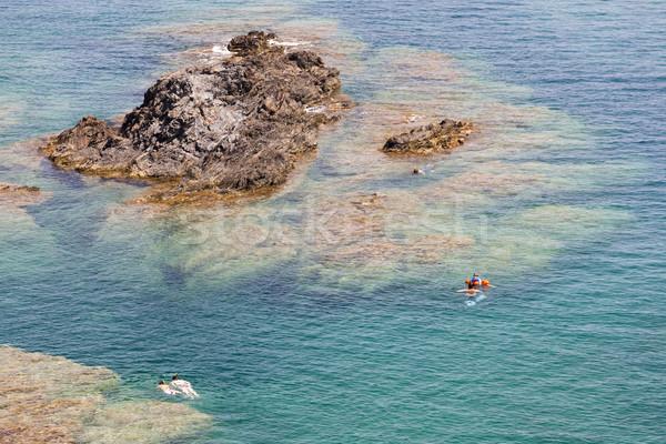 Snorkeling sapka Franciaország sport tenger nyár Stock fotó © phbcz