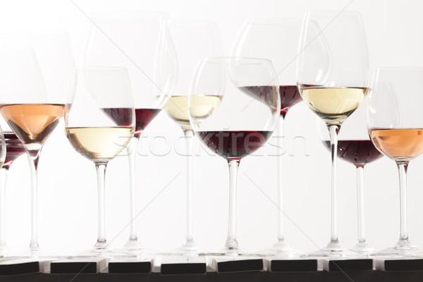 Still life of wine glasses with wine stock photo richard semik phbcz 3284287 stockfresh - Square bottom wine glasses ...