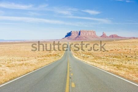 Weg vallei park Arizona USA reizen Stockfoto © phbcz