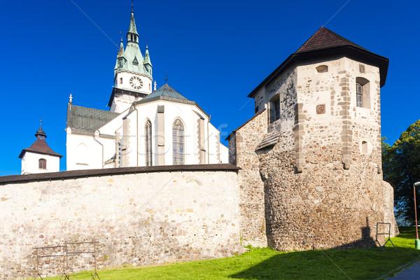 Castelo igreja Eslováquia edifício parede Foto stock © phbcz