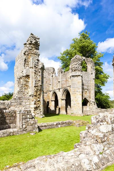 Ruínas abadia inglaterra edifício arquitetura gótico Foto stock © phbcz