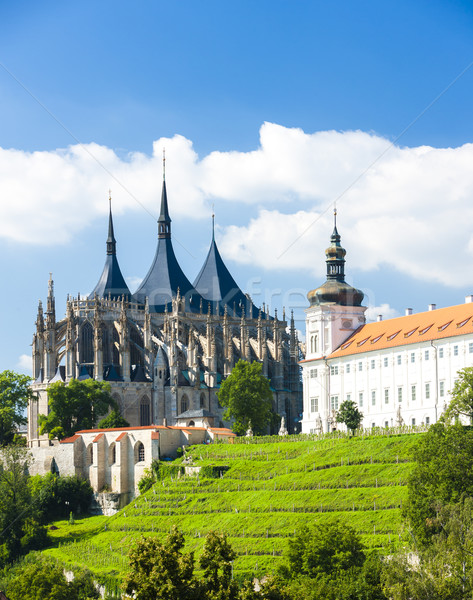 Cathedral of St. Barbara and Jesuit College, Kutna Hora, Czech R Stock photo © phbcz